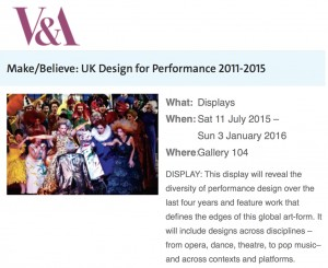 V&A Make Believe 2015